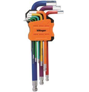 Imbusové kľúče VILLAGER (9 ks)
