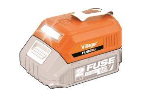 Akumulátorové svietidlo + USB nabíjačka VILLAGER FUSE VLN 9920 (bezbatérie anabíjačky)