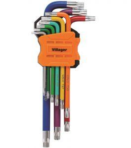 Kľúče TORX VILLAGER (9 ks)